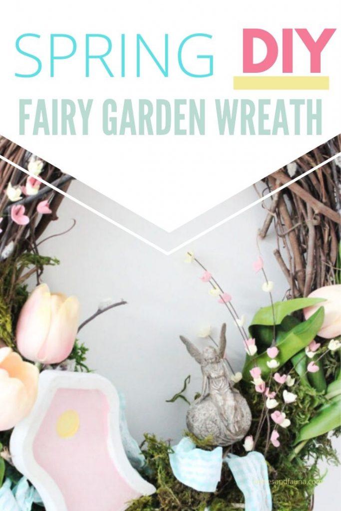 A fairy garden wreath idea.