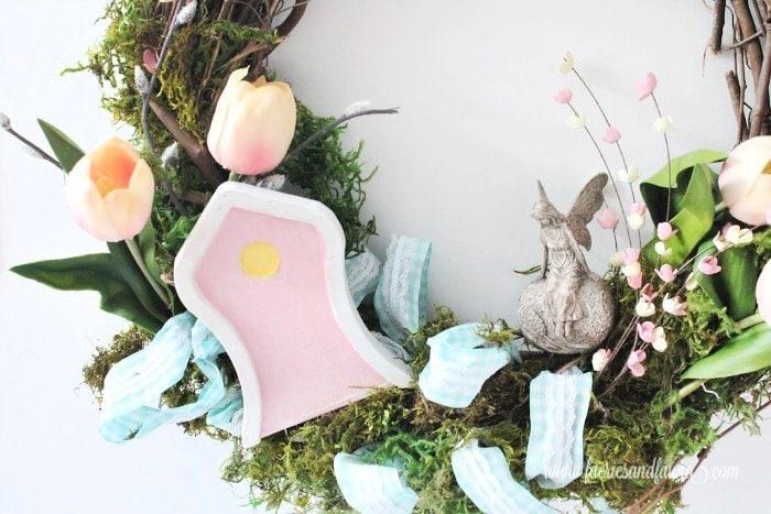 A fairy garden wreath for Spring