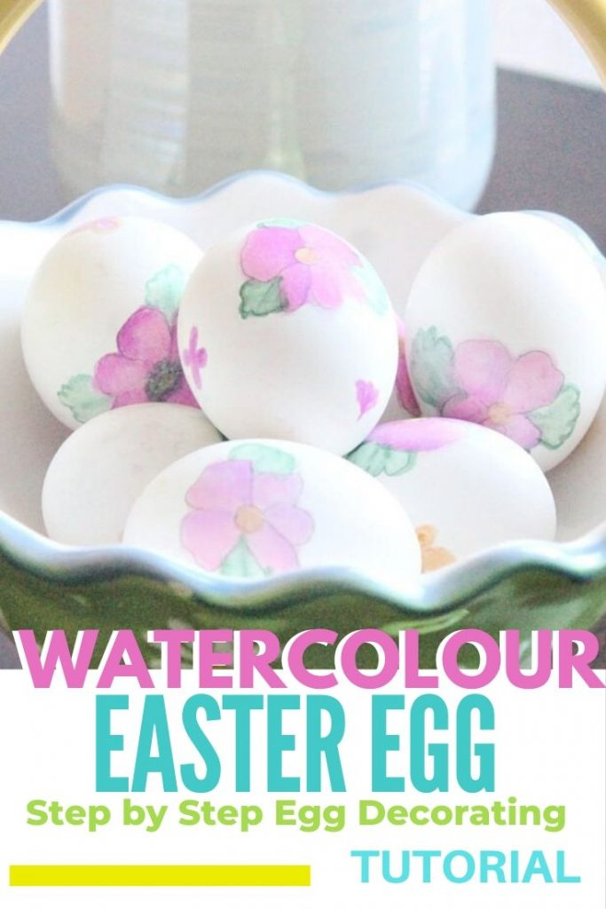 Easter egg decorating with watercolor pens. Beautiful DIY floral watercolor Easter eggs.