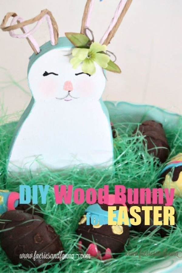 How to make a DIY wood bunny with wire ears