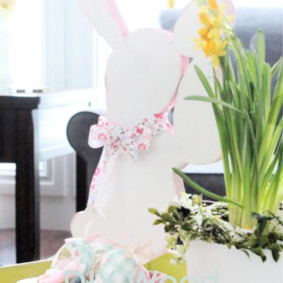 DIY Wood Bunny Craft for Spring and Easter Decorating