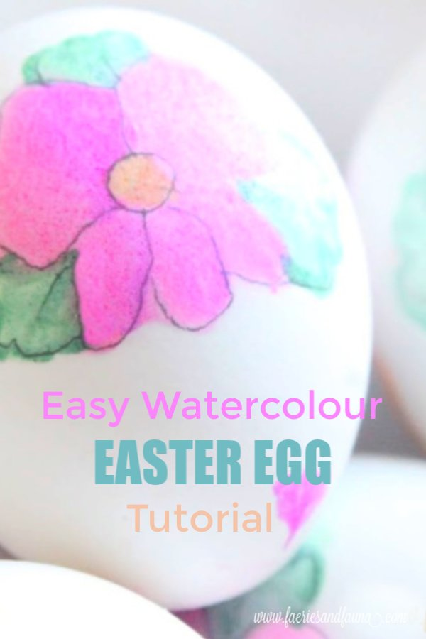 Floral Easter eggs for adults made using Watercolour Tombow Pens. An easy and beautiful way to decorate DIY watercolor Easter eggs.