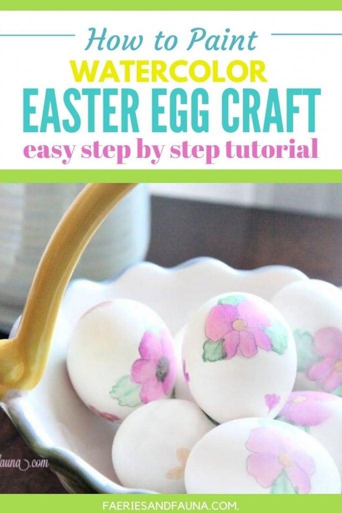 Easter egg decorating idea using watercolour pens. Pretty DIY floral watercolour Easter eggs.