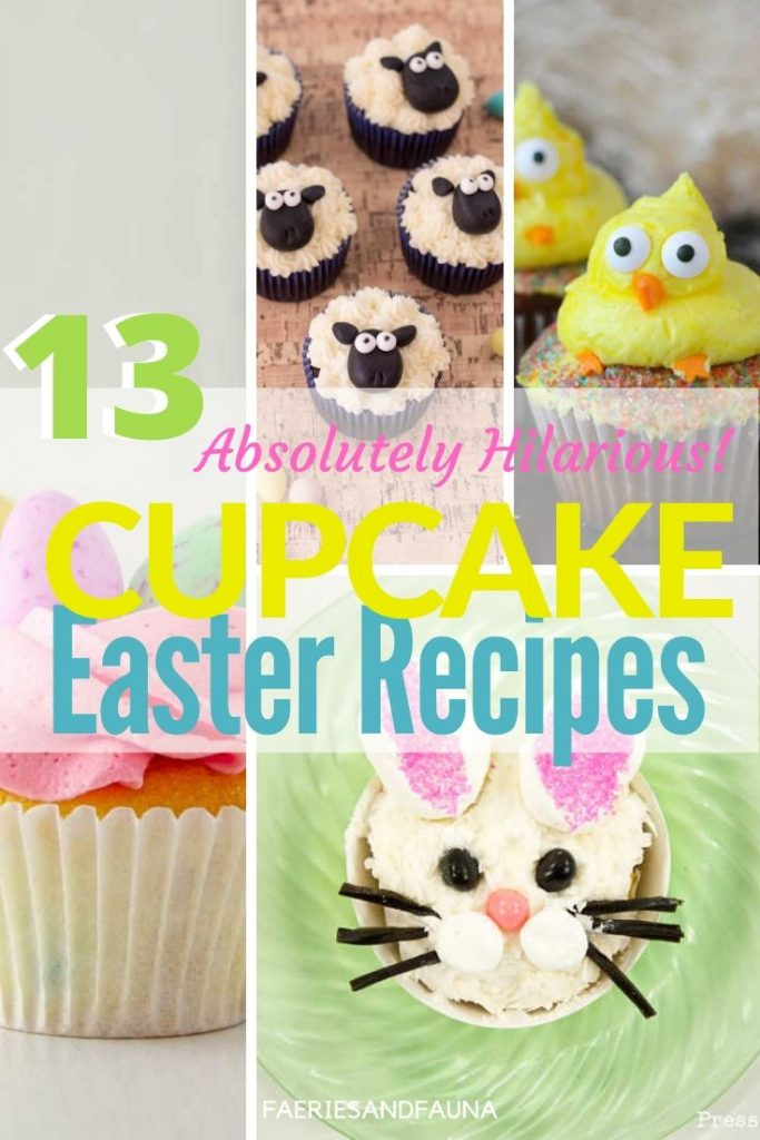 Adorable Easter cupcakes with bunnies, sheep,carrots, bunny bums and flowers.