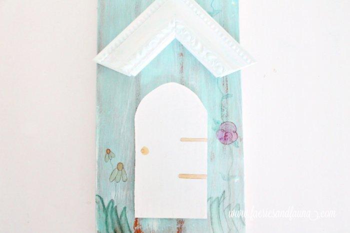DIY Miniature door for bird house yard art sign