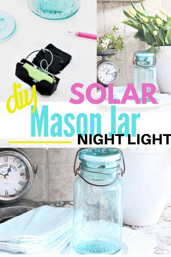 DIY Mason Jar upcycle into a Solar Lamp