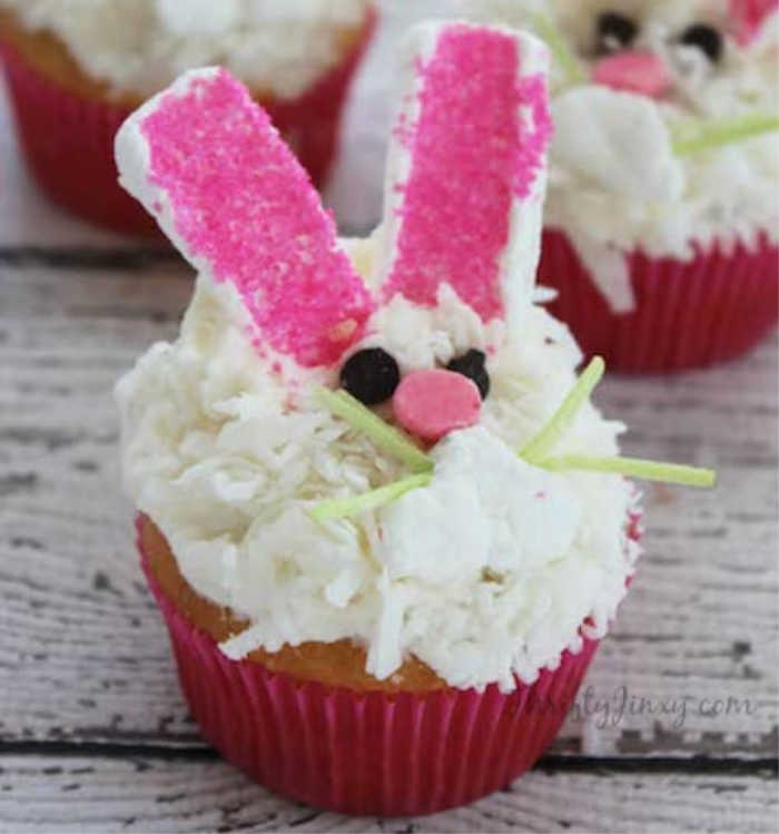 How to make an Easter cupcake recipe that looks like the Easter bunny
