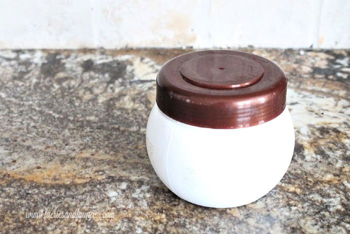 Empty jar for making a linen covered sewing kit