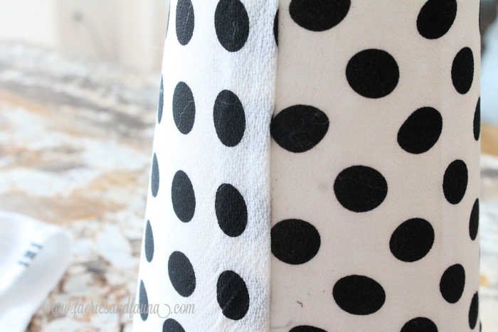 How to seam the back edge of a DIY lampshade.