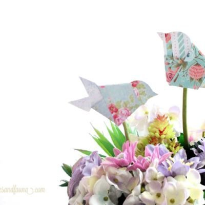 The Cutest and Easiest Origami Birds and Spring Flower Arrangement