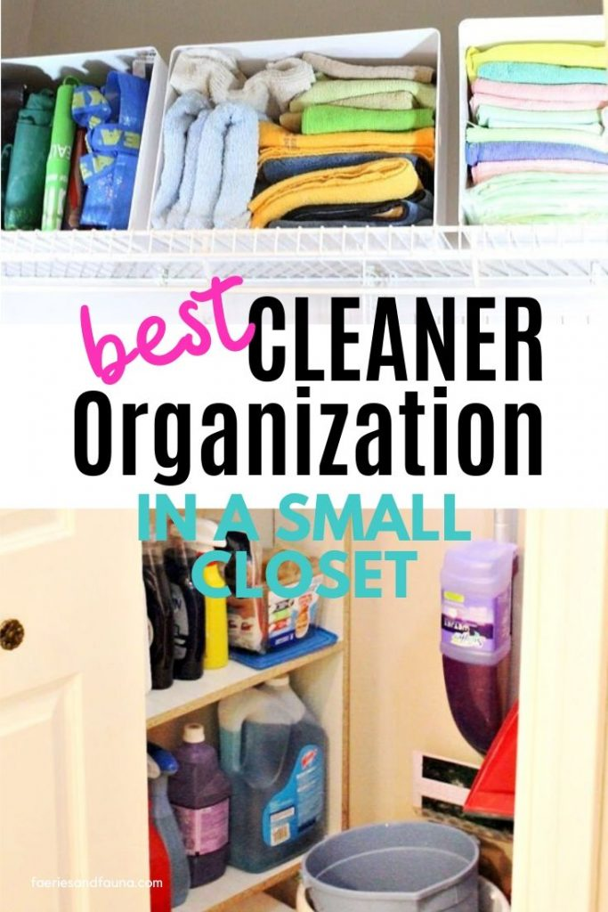 Simple and Space Saving Cleaning Closet Organization