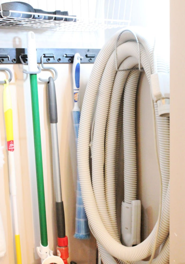 How to organize your vacuum and accessories into a cleaning closet. or broom closet
