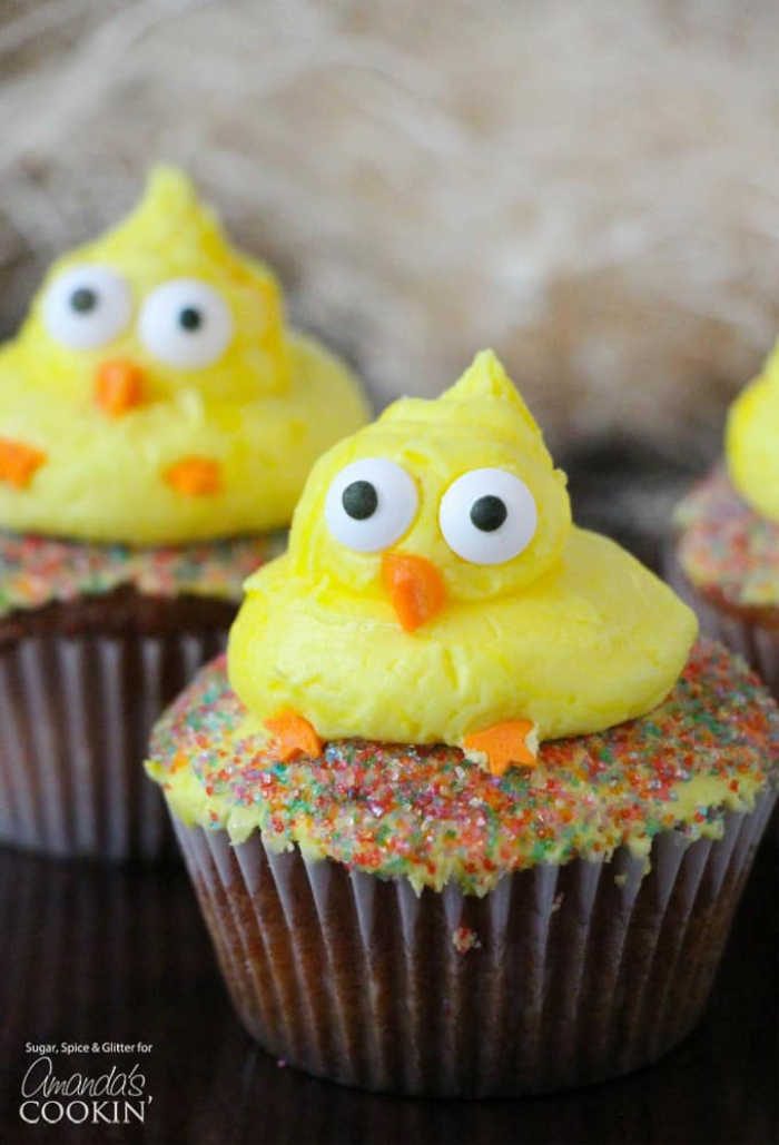 An Easter treat of little ducking Easter Cupcakes