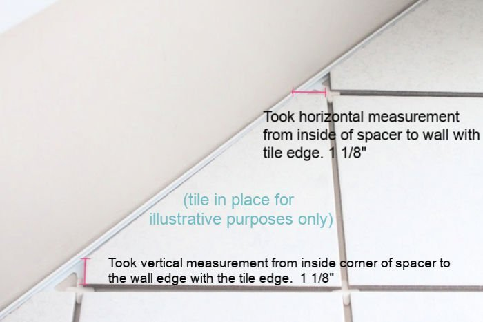 How to measure for cutting and fitting tiles
