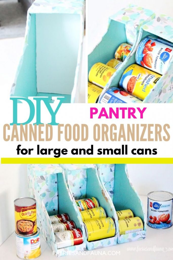 DIY Pantry can storage for the pantry or kitchen cabinets.