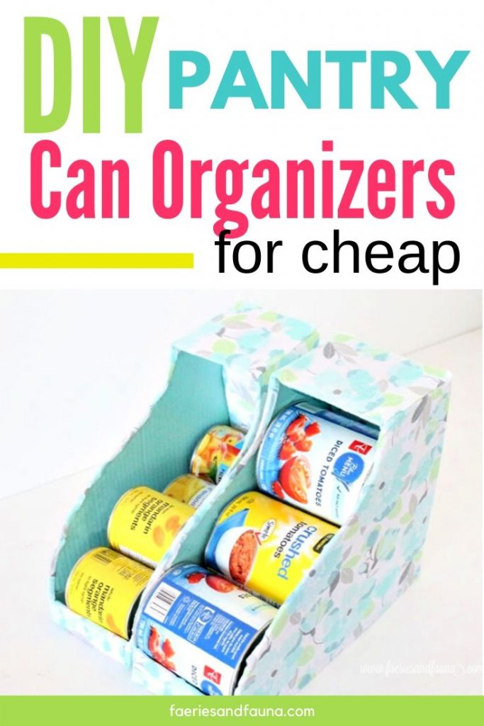 DIY Homemade can organizers for small or large canned good.