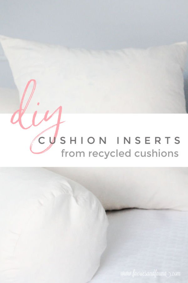 How to downsize your linen closet and recycle old cushions into new cushion insert.