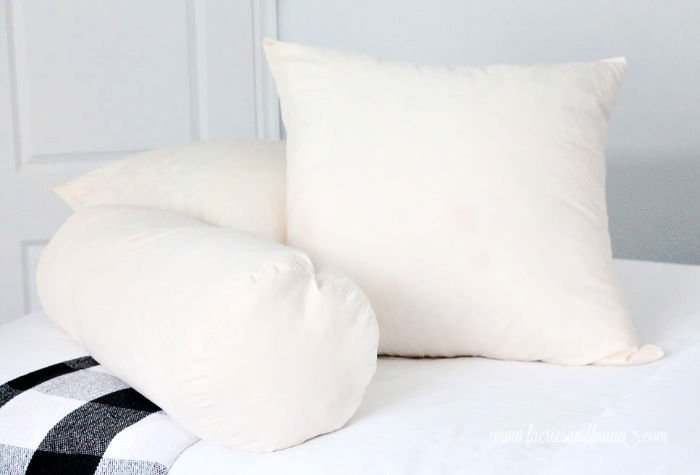 How to make European cushion inserts and DIY bolster cushion inserts