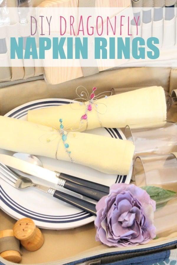 Handmade Wire Napkin Rings for Picnics