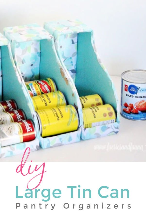 How to make custom sized DIY can organizers for the pantry or kitchen cupboards.