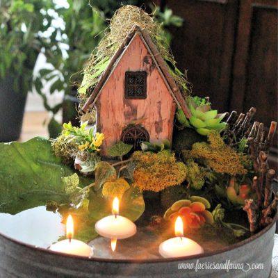 Easy DIY Fairy Pond Centerpiece