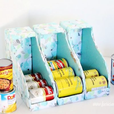 DIY Can Organizer for Pantry