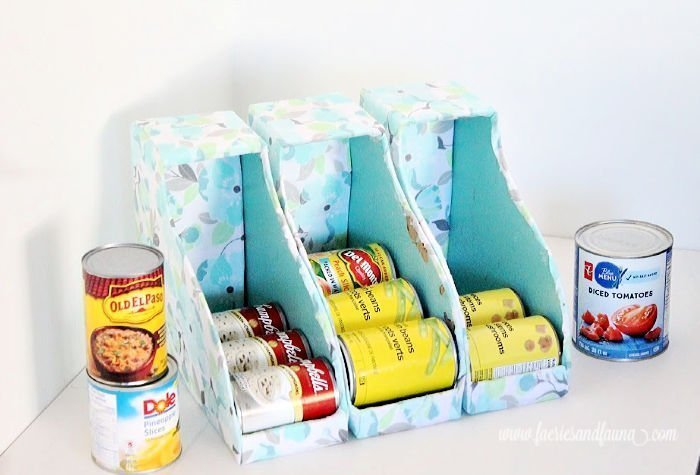 Large can organizer for tin cans.