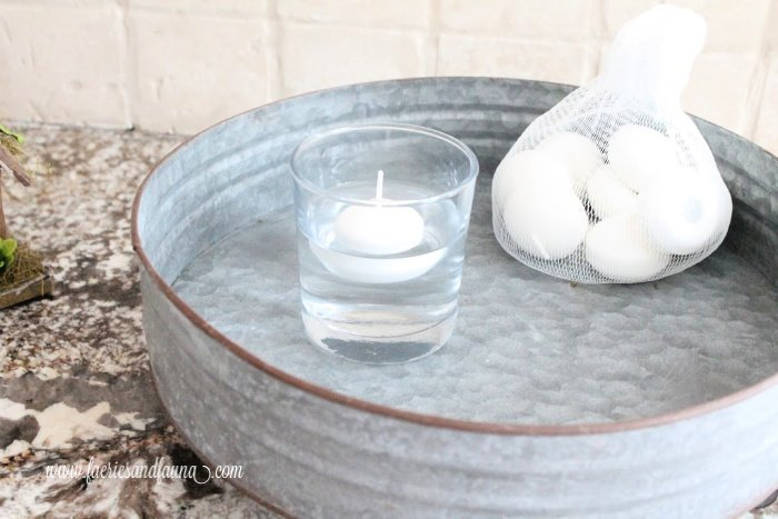 How to build a fairy pond with floating candles.