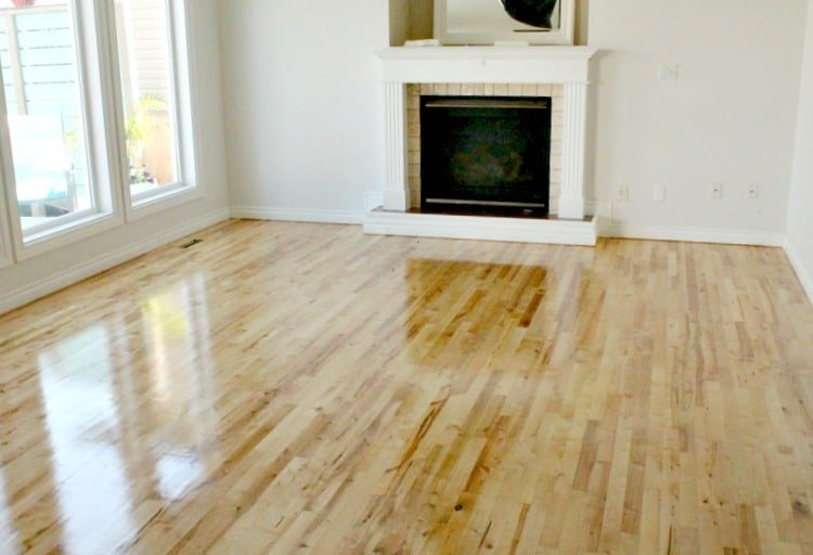 Refinishing a wood floor after pet damage