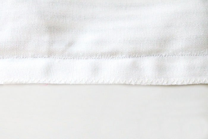 How to finish a seam with zig-zag stitching.