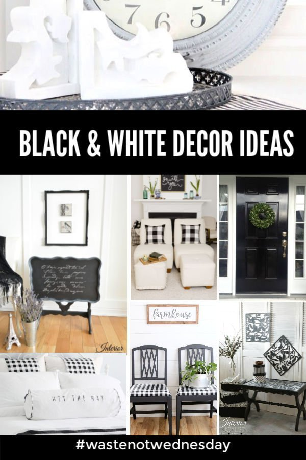 A collection of Black and White DIY room decor ideas