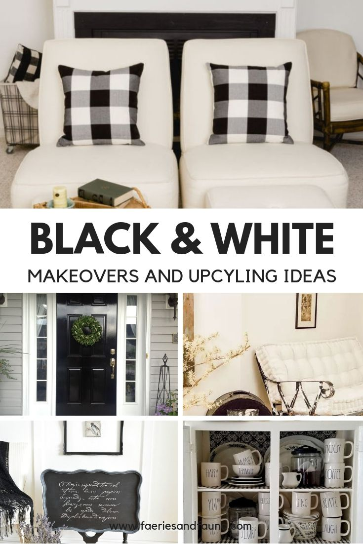 How to makeover and upcycle thrift store finds into beautiful black and white home decor.