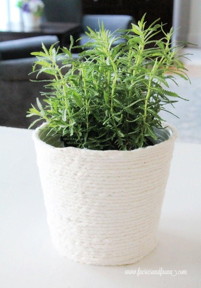 DIY flower pot farmhouse cover