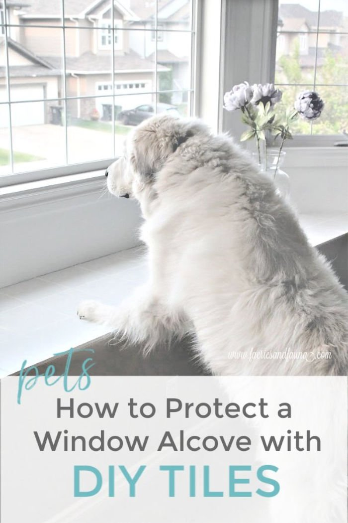 Protecting a window alcove from pet damage with DIY tiles