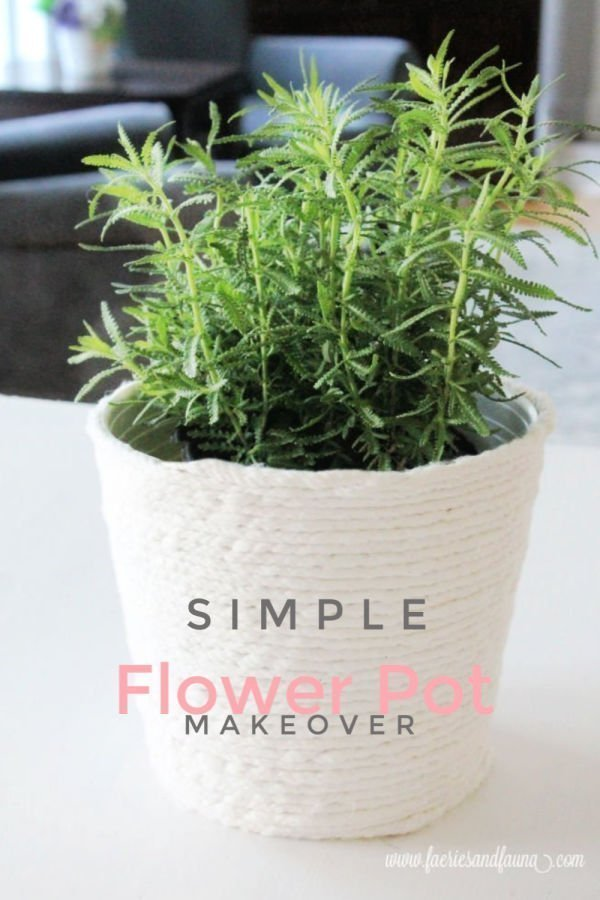 Simple minimalist dollar store flower pot makeover
