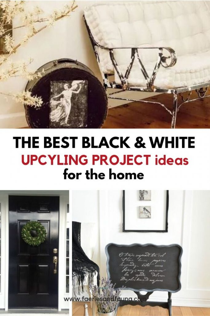 Upcyling projects for the home including couches, tables, wall art, and cushions.