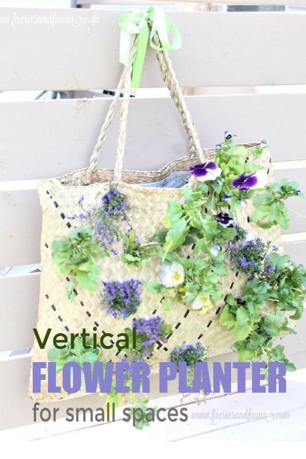 How to make a simple vertical garden for small spaces.