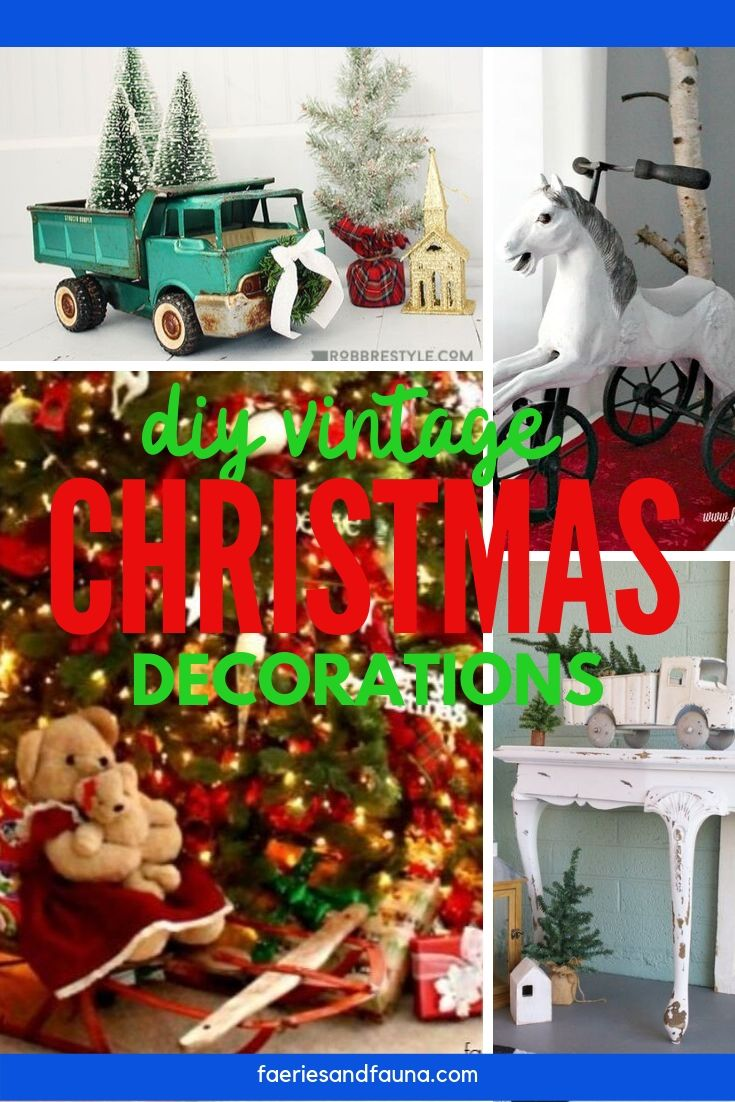 Farmhouse Christmas decoration ideas using upcycled and repurposed thrifted finds.