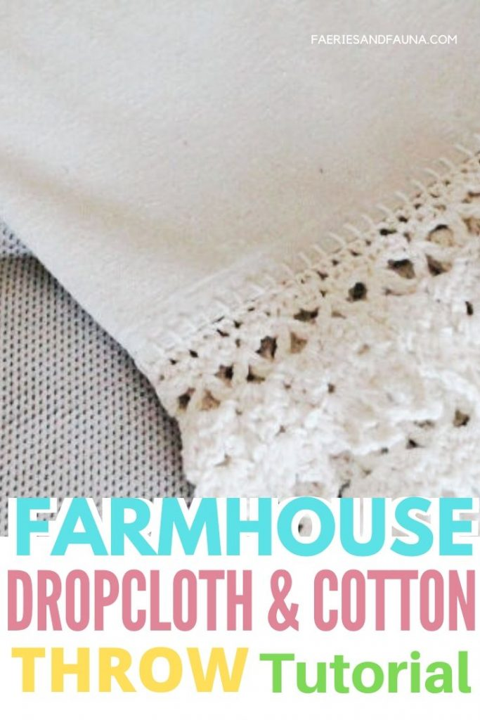 A quick and easy to make DIY farmhouse throw for Spring, or decorating.