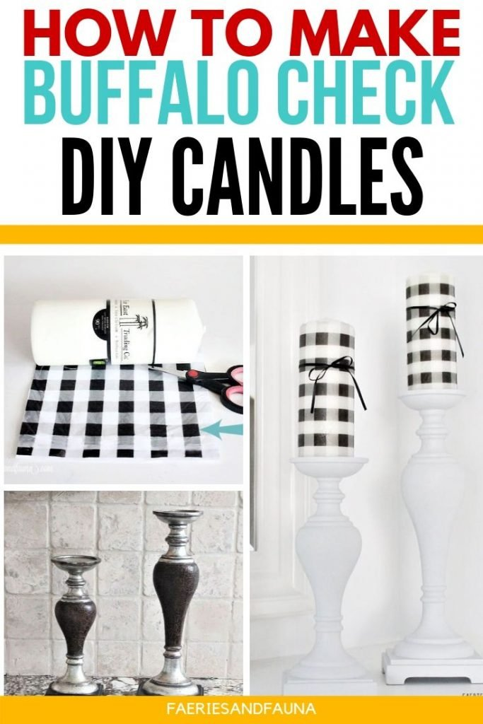 Step by step tutorial on upcycling thrifted candlesticks and dollar store candles into gorgeous farmhouse decor.