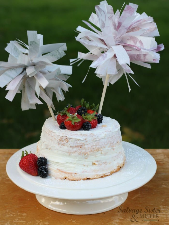 Paper tissue paper cake covers
