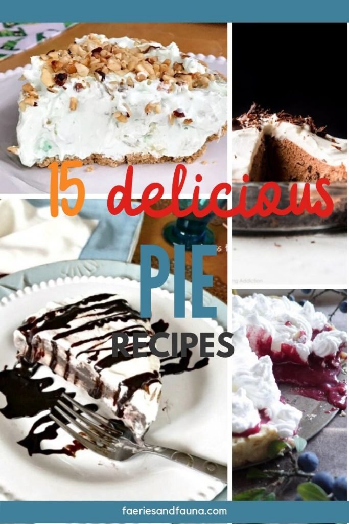 A collection of gorgeous pie recipes, verry pie, pumpkin pie, flapper pie, chocolate pie, pecan pie and no bake pie. Perfect for Fall or Thansgiving.
