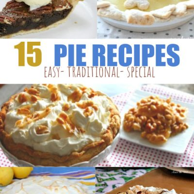 A Whole Table Full of Different Pie Recipes