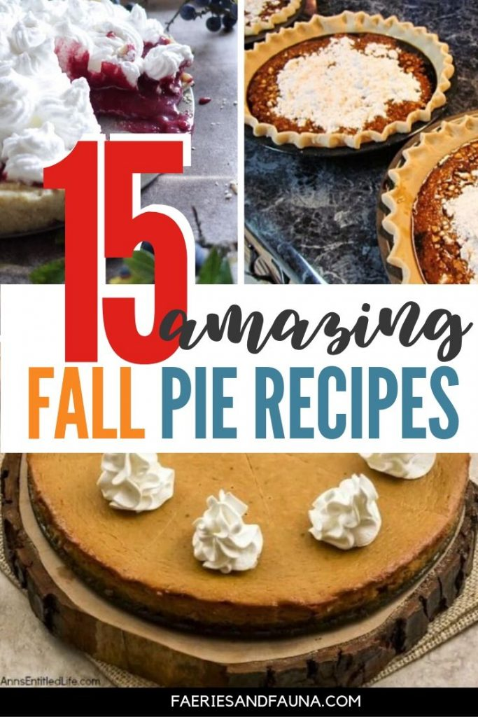 Pie recipes for fall desserts including pecan pie, berry pies, no bake pies, pistachio pie, flapper pie, peanut btittle pie
