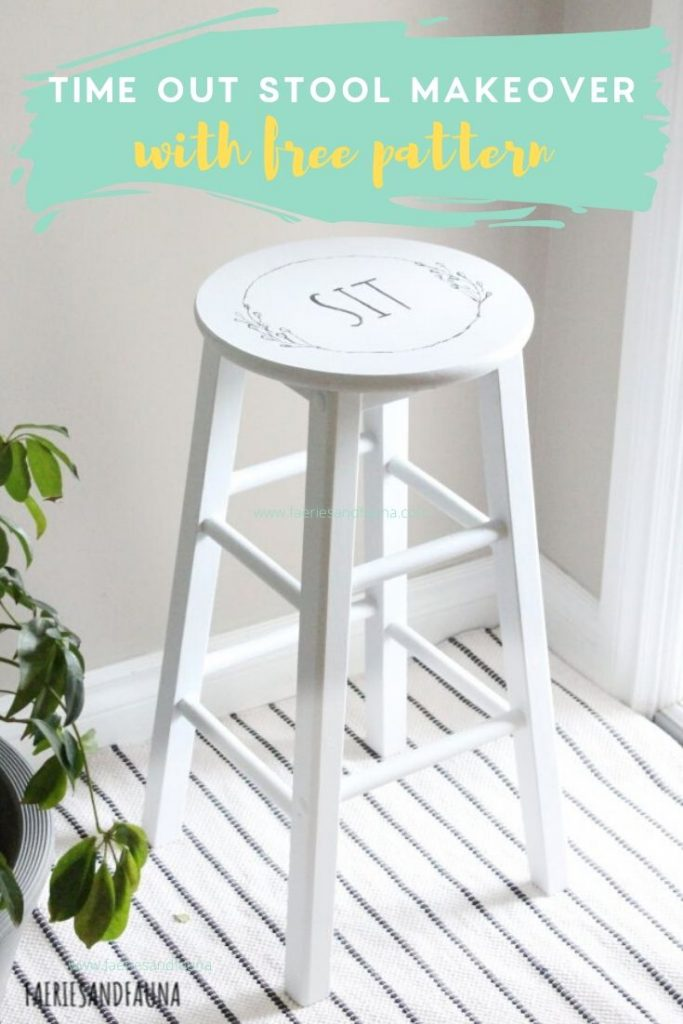 A quick thrifted stool recycle turning an old stool into an time out stool