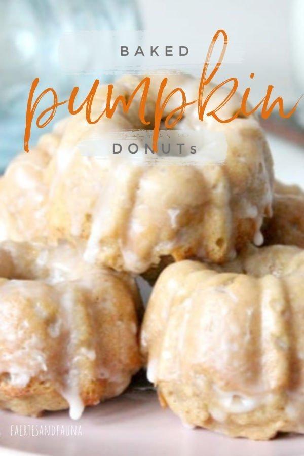 Homemade Pumpkin Baked donut recipe.