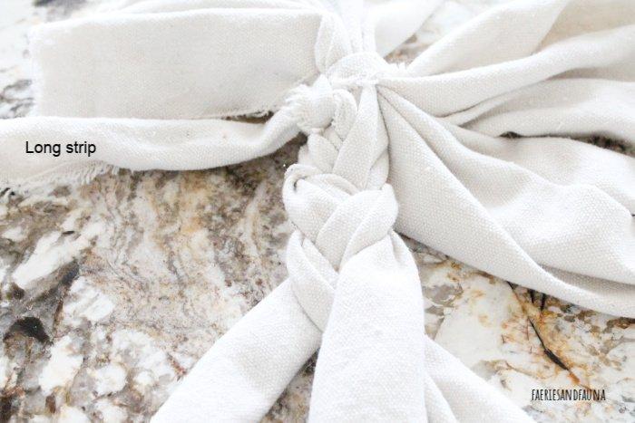 Braiding drop cloth for a DIY dog toys