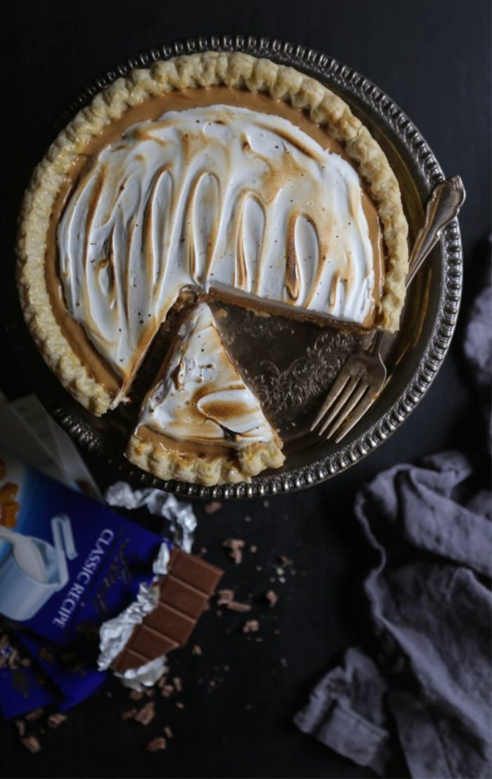 Special Occasion Sea Salt Chocolate and Whiskey Pie