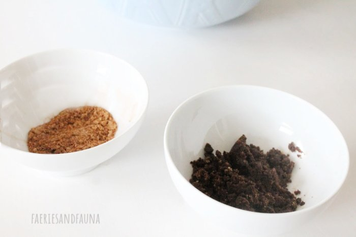 Mixing cinnamon sugars for Pumpkin Cinnamon swirl scone recipe.