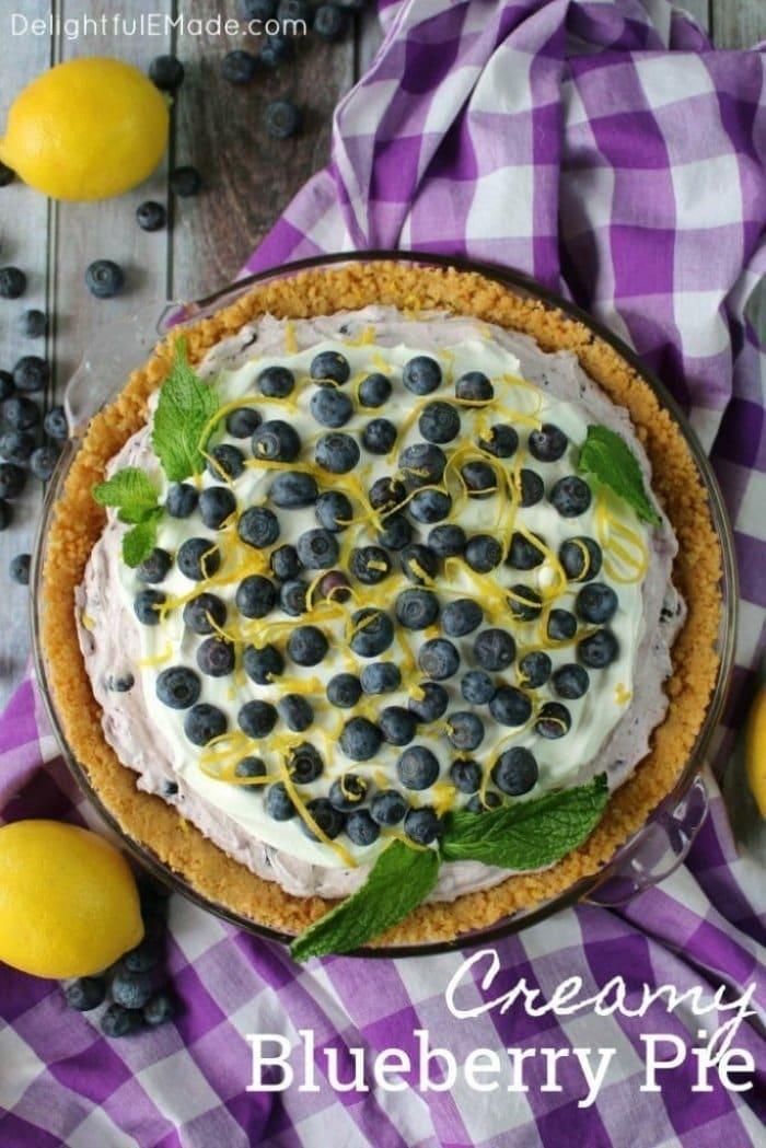 Easy to Make Blueberry pie recipe.